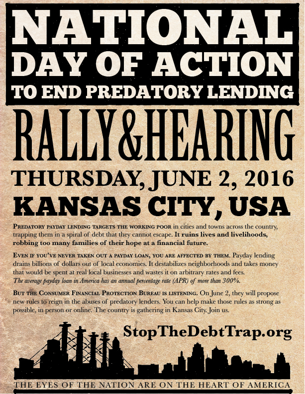 Stop The Debt Trap – Rally in Kansas City